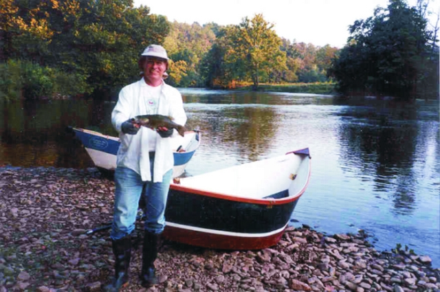 Robert Dalley and his dory