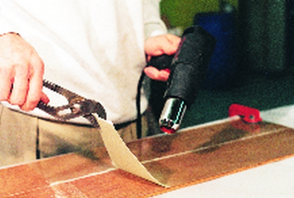 removing fiberglass