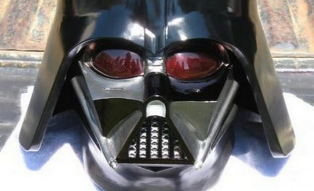 Darth Vader cosplay helmet made with epoxy