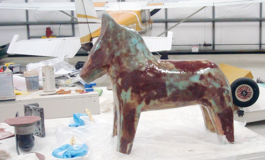 Dala horse under construction