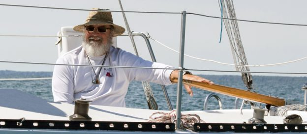 Bruce Niederer doing what he loves best, sailing.