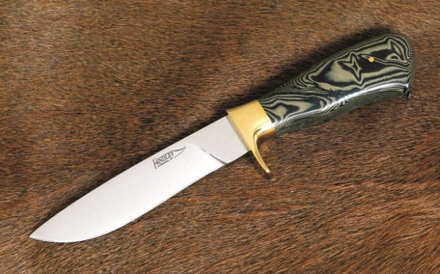 laminated denim knife handle