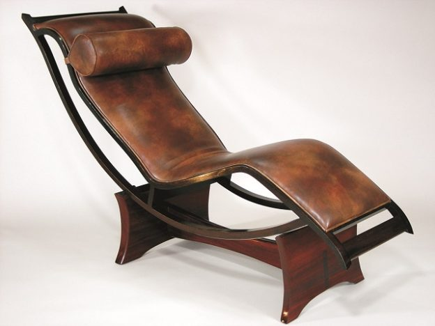 This lounge chair is a piece of handcrafted furniture by Michael Fitzpatrick