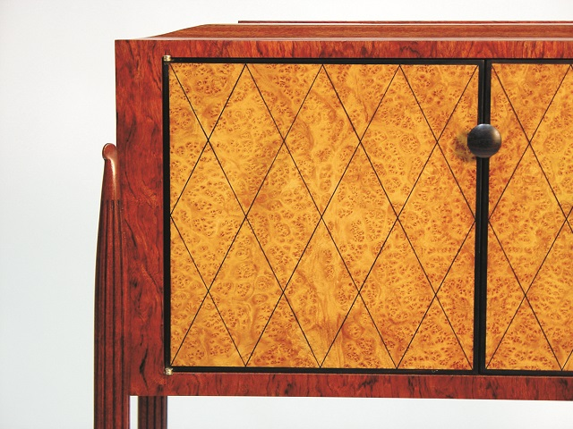 A cabinet, just one of many pieces of handcrafted furniture by Michael Fitzpatrick