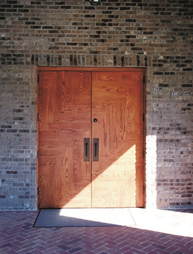 Red oak church doors with WEST SYSTEM Epoxy