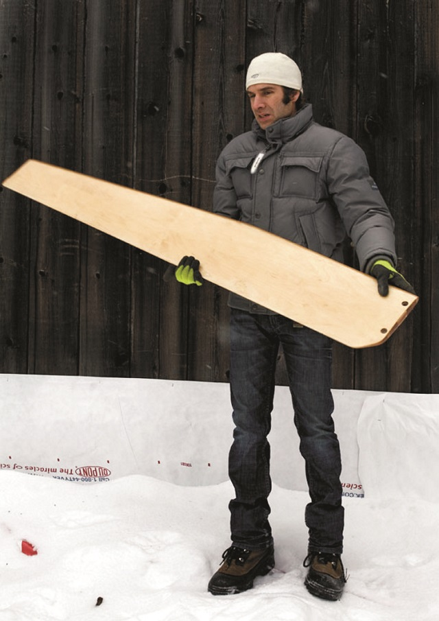 Holding the composite wood bamboo daggarboard
