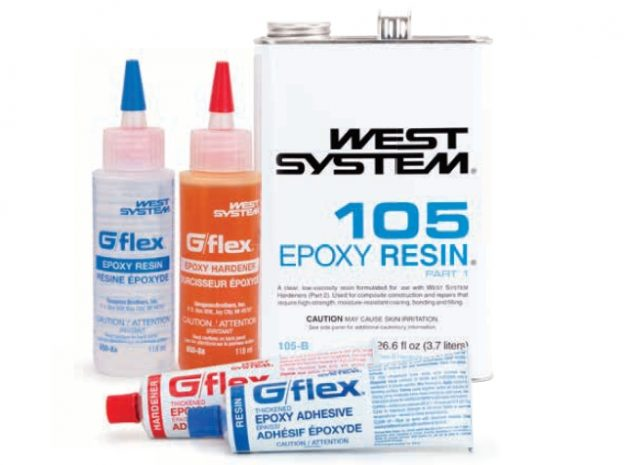 which epoxy is recommended? WEST SYSTEM 105 Resin and G-flex epoxies