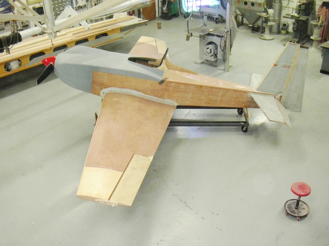 Jon Staudacher's plane was faired with 410 Microlight and 407 Low-Density filler in preparation for the primer.